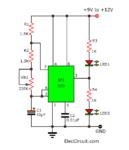 Dual LED flasher using 555