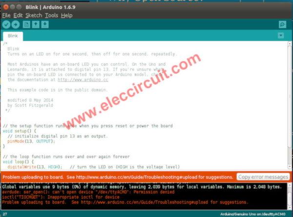 How to fixed error while installing Arduino driver on Ubuntu