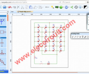 Easily draw circuit diagram using easyEDA
