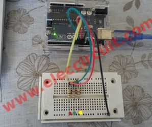 3 LED running-int code by Arduino