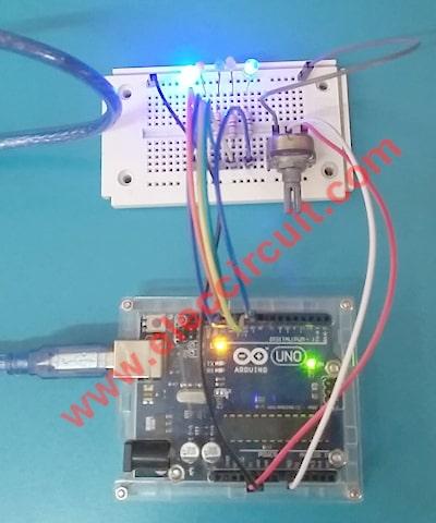 5-LED-running-using-potentimoeter