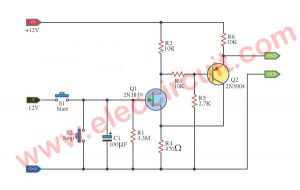 JFET delay Time circuits using 2N3819