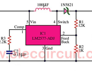 12V to 16V Step up DC to DC Converter  using LM2577