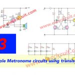 3 Simple Metronome circuits using transistors