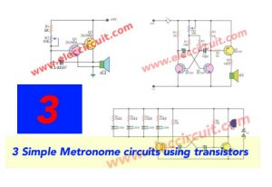 3 Simple Metronome circuits using transistors