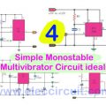 4 Simple Monostable Multivibrator Circuit ideals