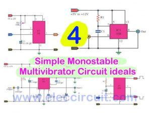 4 Monostable multivibrator circuit ideals