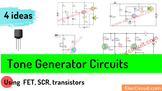 Tone generator circuit using FET SCR transistor