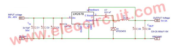 5V 5A switching regulator for digital by LM2678