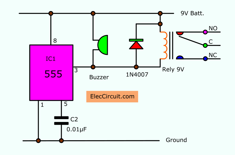 Timer Circuit Diagram - All Diagram Schematics