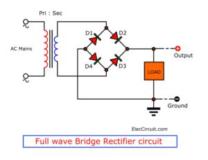 Full wave bridge rectifier
