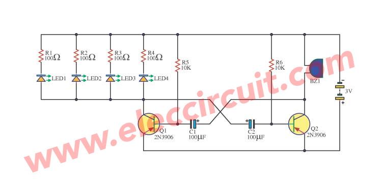 Simple signal generator circuit by 2N3906