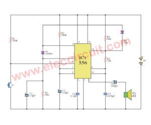 Simple train whistle circuit using NE556