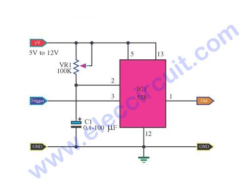 Basic Timer By IC Quad Timer NE558