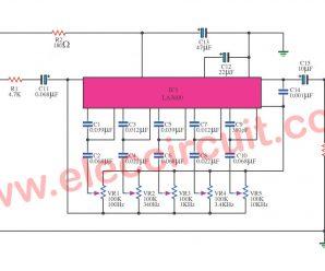 10 Channel graphic equalizer circuit using LA3600