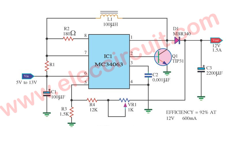 9V Step-Up Voltage Regulator