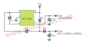 ICL7660 DC to DC Converter input 5V to output +/-5V