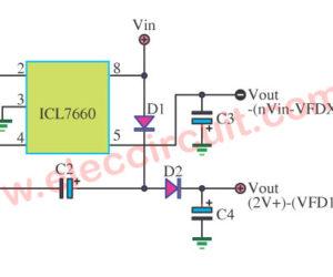 ICL7660 DC to DC Converter input 5V to output +/-5V