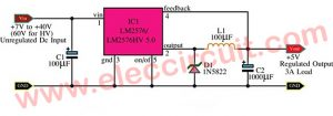 5V 3A Switching Regulator using LM2576