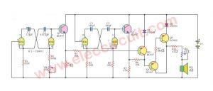 Tempo tap circuit using IC-CD4011