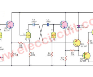 Tempo tap circuit  using IC-CD4011