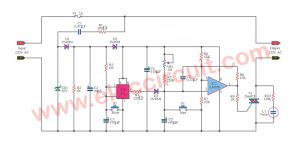 Timer control 1-15 minutes by Triac 2N6075 and LM555-LM358