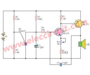 Free 4 ideas of tone generator circuit using FET, SCR, transistors