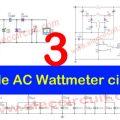 3 Simple AC Wattmeter circuits