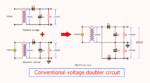 18V to 50V DC Conventional voltage doublers