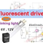 Fluorescent driver with 6V, 12V   blinking light