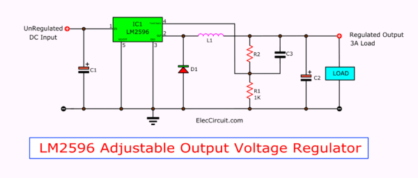 LM2596 Adjustable Output Voltage Regulator