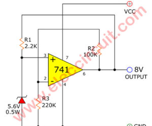 Super Steady Zener diode voltage regulator circuit