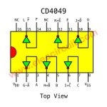 IC 4049 Hex inverter Datasheet - Square wave oscillator