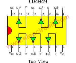 IC 4049 Hex inverter Datasheet – Square wave oscillator