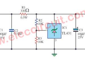 TL431 circuit Adjustable Shunt (zener) Regulator