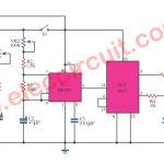 Coin toss electronics using IC NE555-CD4017