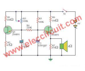 Cricket  Generator  circuit using 2N4891