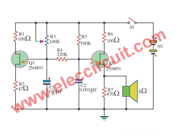 Bird Sound Generator Circuit Diagram Electronic Circuit Projects