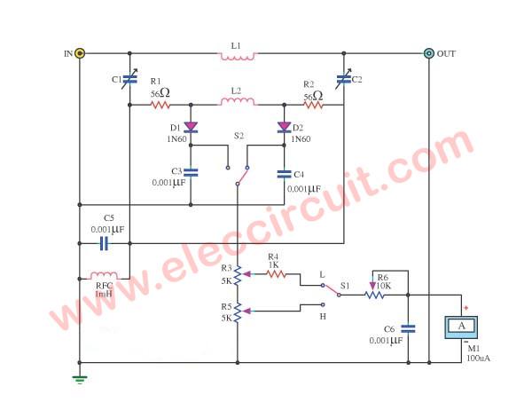Easy In-Line RF Wattmeter Circuit