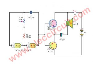 Simple Continuity Tester  circuit using IC-4011