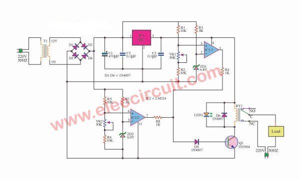 Over voltage and low voltage protection circuit
