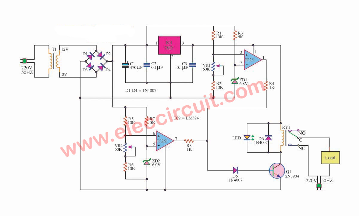 Over under voltage protection circuit eleccircuit over voltage and low voltage protection circuit swarovskicordoba