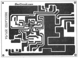 PCB layout of 0-30V 5A power supply using LM723 and CA3140