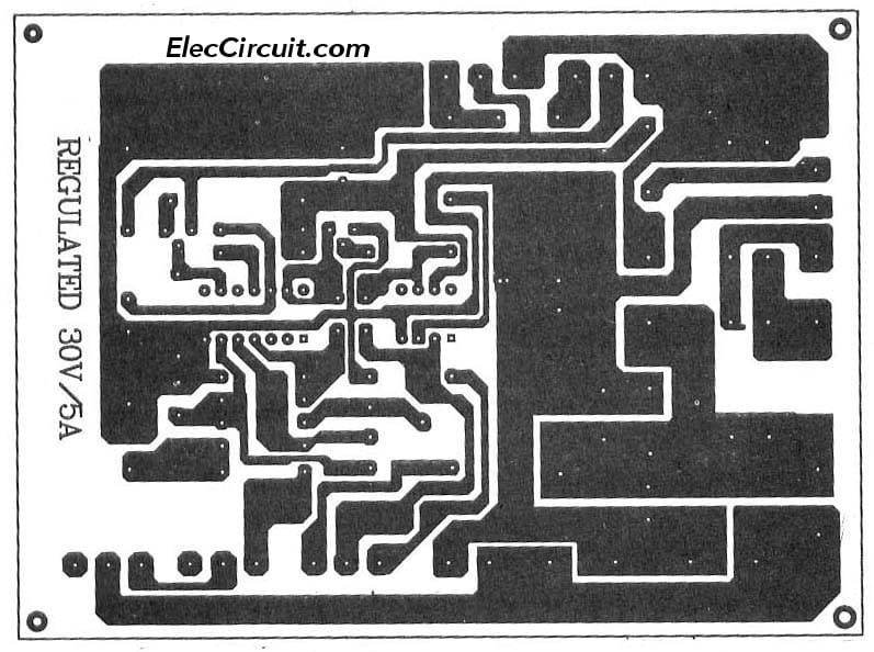 0 30v 0 5a regulated variable power supply circuit eleccircuit com