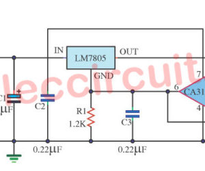 Variable Regulated Power supply using 7805 and op-amp