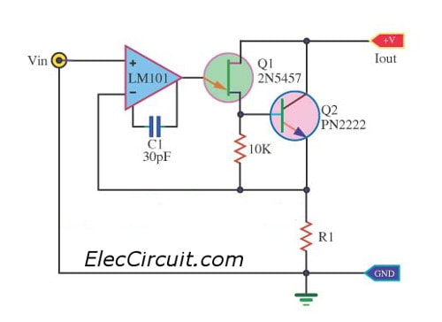 meet constant current source circuits ideas for you eleccircuit comprecision current sink circuit