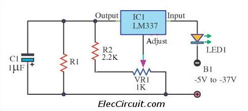 Precision LED Regulator circuit using LM337