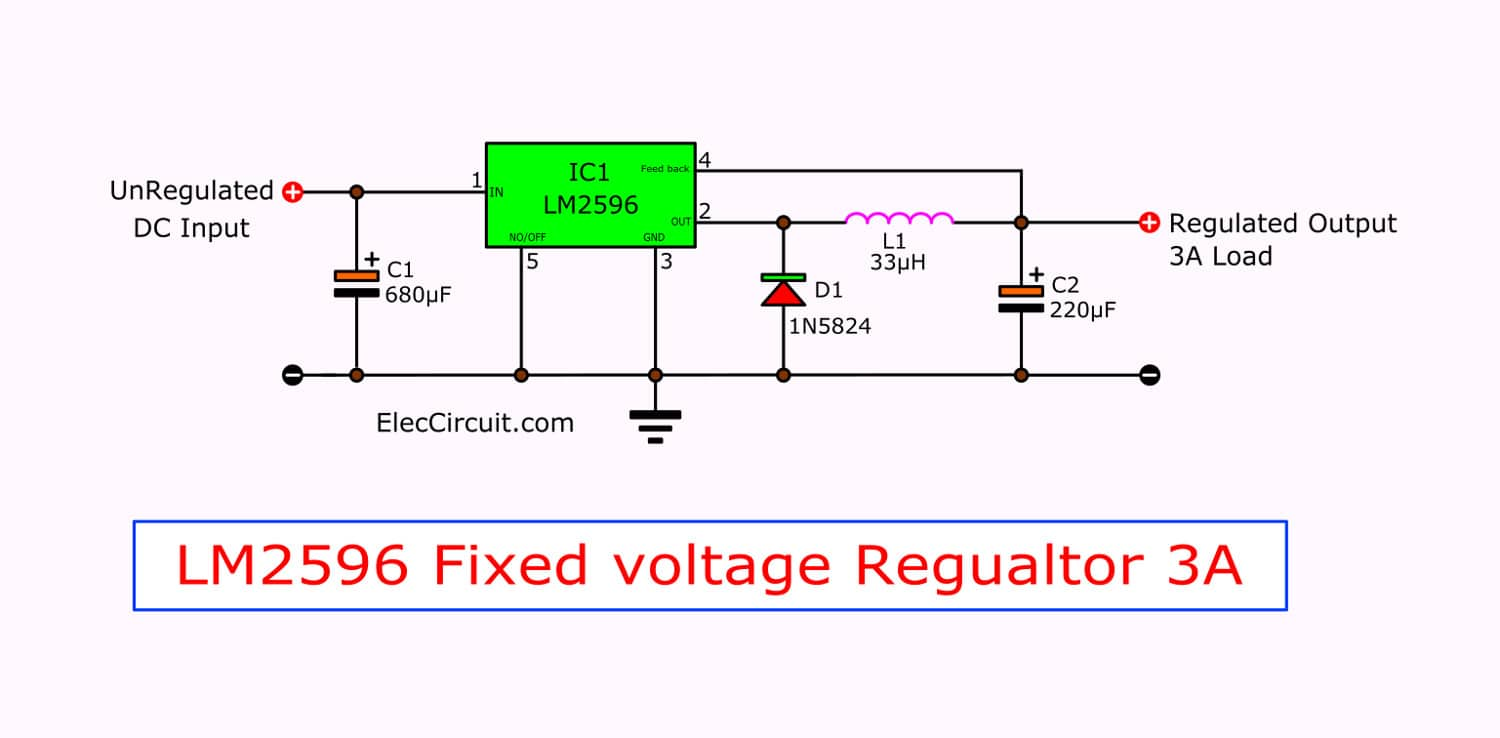 electronic projects circuits switching regulator ic