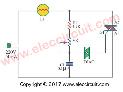 AC 100W Lights Dimmer Using A TRIAC