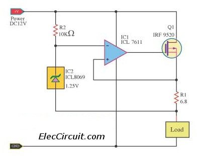 Lm317 With Outboard Current Boost as well Infrared555 as well Latch Circuits besides Microphone Pre lifier Circuit besides High Side Driver And Low Side Driver. on transistor switch schematic